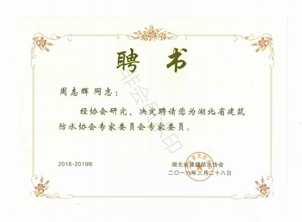 湖北省建筑世界杯足彩app下载协会专家委员会委员